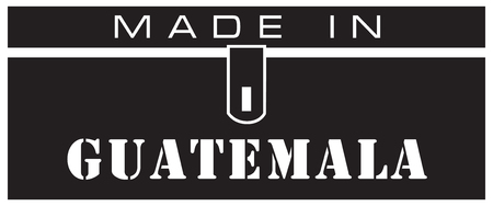 A stylized label is made in Guatemala. Иллюстрация