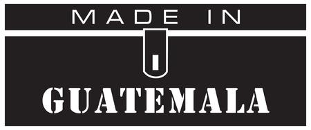 A stylized label is made in Guatemala. Illusztráció