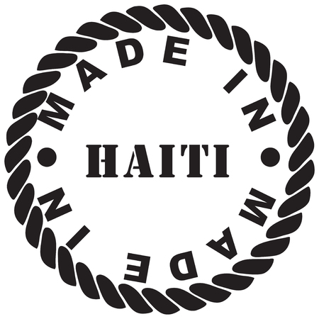 Round classic stamp print from rubber stamp - made in Haiti Иллюстрация