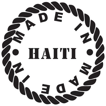 Round classic stamp print from rubber stamp - made in Haiti Illusztráció