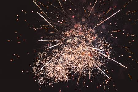 pyrotechnics: Fireworks - abstract holiday background Stock Photo