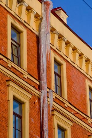 Icicles in Saint-Petersburg.