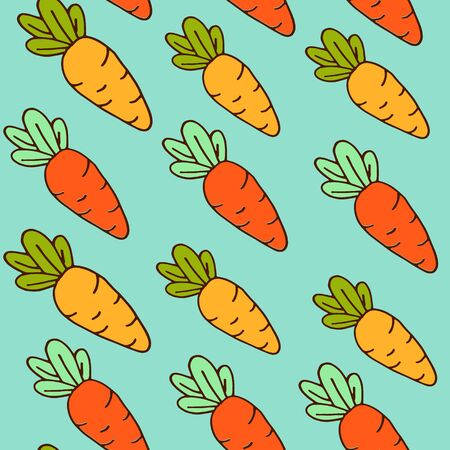 background of orange carrots, seamless pattern, vegetarian