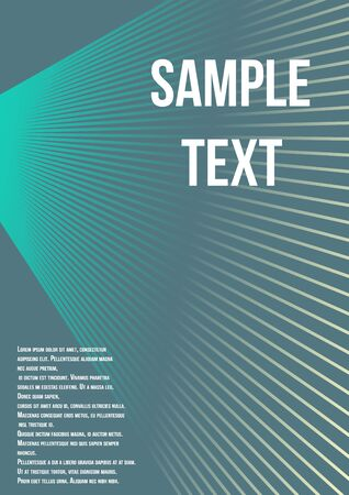 Minimum geometric coverage. Modern abstract cover from vector abstract lines. The future template for decorating the background of albums, business brochures, banner, poster.
