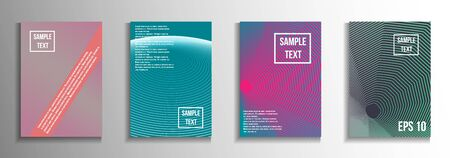 Minimum vector coverage. A set of modern abstract covers. Creative background colors.  Suitable for decorating business brochures, banners, posters.