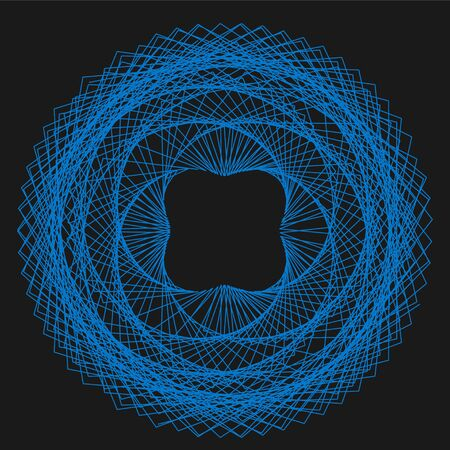 Abstract Spirograph element for decorative design. Vector abstract complex circular pattern. Illustration
