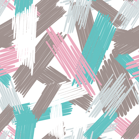 Auszug farbiger nahtloser Hintergrund des Gekritzels. Mehrfarbige Kritzeleien werden zufällig mit einem Filzstift gezeichnet. Standard-Bild - 95916198