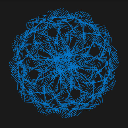 Abstract Spirograph element for decorative design. Illustration