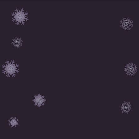 Christmas and New Year background vector with falling snowflakes. Vector illustration. EPS 10