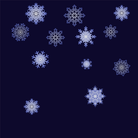 Christmas and New Year background vector with falling snowflakes.