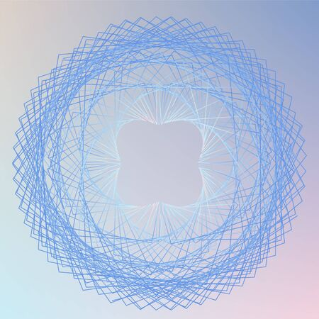 Abstract spirograph element for decorative design. Vector abstract complex circular pattern. Vector illustration.  イラスト・ベクター素材