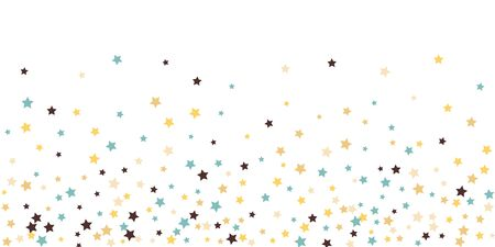 Abstract flying star confetti