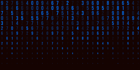 A modern design for digital wallpaper design. Concept business background. Abstract technical background of blue numbers on black. Illustration of the concept of a hacker. Computer code data. Vector illustration.