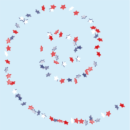 Circular star background in american flag colors.