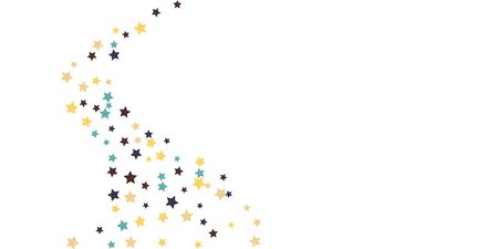 Abstract flying confetti star. A falling star background. White background with blue, yellow and brown stars. Suitable for your design, cards, invitations, gifts. Иллюстрация