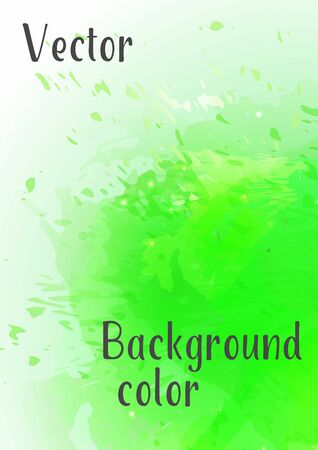 Vector watercolor background. Modern abstract background with splashes of watercolor paint.