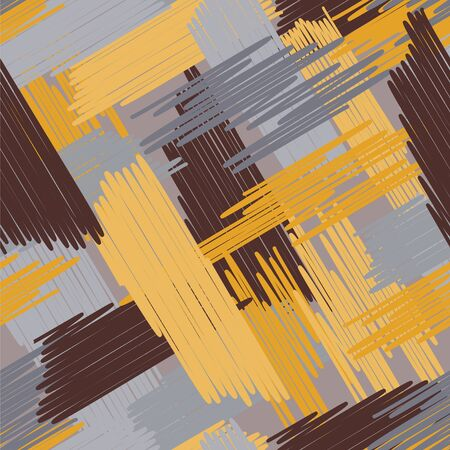Abstract colored seamless background of doodle. Multicolored doodles are drawn with a felt pen randomly.