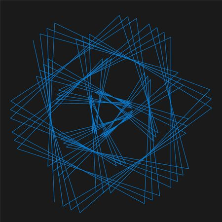 Abstract spirograph element for decorative design. Vector abstract complex circular pattern.  イラスト・ベクター素材