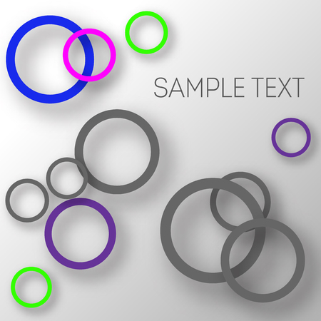 Abstract background of circles with shadows for product design. Modern design. Suitable for registration of a banner, cover of a notebook, a book, your website. Vector illustration.