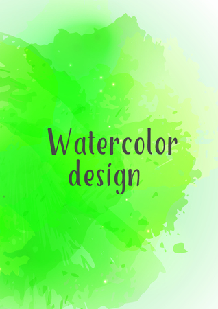Vector watercolor background. Modern abstract background with splashes of watercolor paint. Template of design. Suitable for banner design, poster, booklet, report, journal. EPS 10.