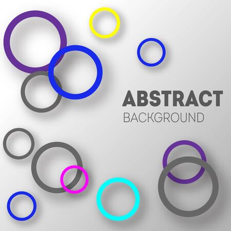 Abstract background of circles with shadows for product design. Modern design.  イラスト・ベクター素材