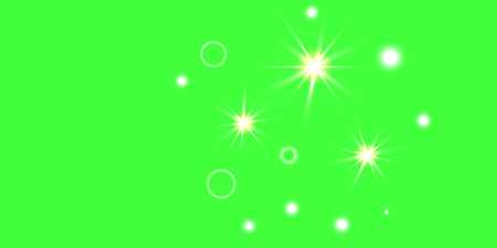 Abstract green vector background. Chaotic confetti stars shine on a green background. Design element.
