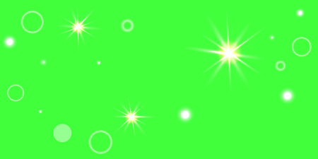 Abstract green vector background. Chaotic confetti stars shine on a green background. Design element for postcard, poster, business card and cover.