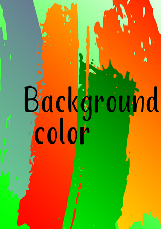 Vector watercolor background. Modern abstract background with multicolored brush strokes. Template of design. Suitable for the design of banners, posters, booklets, reports, magazines. EPS 10. Illustration