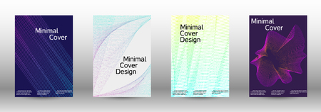 Modern design template. A set of modern abstract covers. Creative sound backgrounds from abstract gradient wave lines to create a trendy abstract cover, banner, poster, booklet. Иллюстрация
