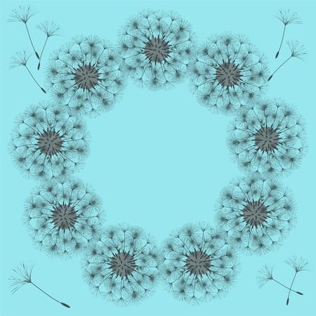 Abstract frame of a dandelion for design vector illustration Illustration