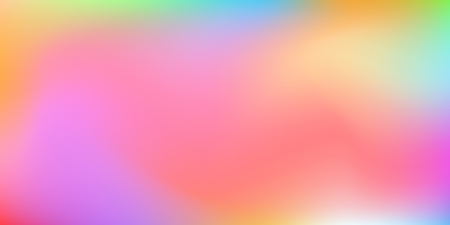 Holographic background. Colorful rainbow gradient.   Smooth blend banner template.  Easily editable soft colored vector illustration.  Bright print.