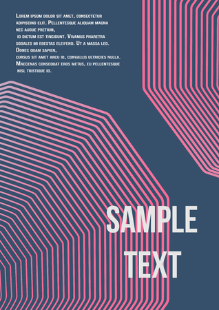 Minimum geometric coverage. Modern abstract cover from vector abstract lines.