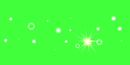 Abstract green vector background. Chaotic confetti stars shine on a green background. Design element for postcard, poster, business card, cover.