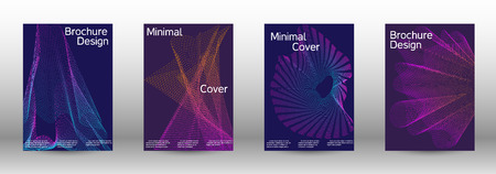 Minimum coverage of a vector. A set of modern abstract backgrounds with abstract gradient linear waves.