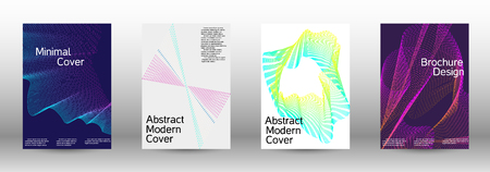 Modern design template. A set of modern abstract covers. Minimal vector cover design with abstract lines. Suitable for creating a fashionable abstract cover, banner, poster, booklet. Ilustração