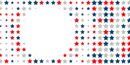 4th of July. Abstract background of red, blue, white stars in the colors of the United States, the patriotic stars of America. Vector illustration. Illustration