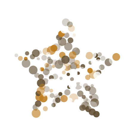 Abstract black background with gold, white and gray confetti transparent dots. Elements of different size and color. Suitable for backgrounds for greeting cards and posters, New Years design