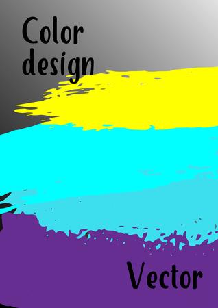 Sfondo acquerello vettoriale Sfondo astratto moderno con pennellate multicolori. Modello di design. Adatto per la progettazione di banner, poster, opuscoli, relazioni, riviste. EPS 10.
