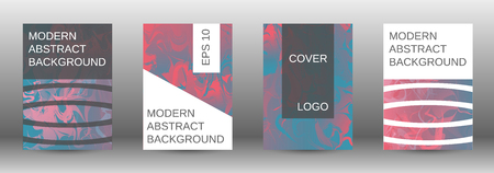 Minimum vector coverage. A set of modern abstract covers. Rich design VIP. Future futuristic template with abstract current forms for banner design, poster, booklet, report, magazine.