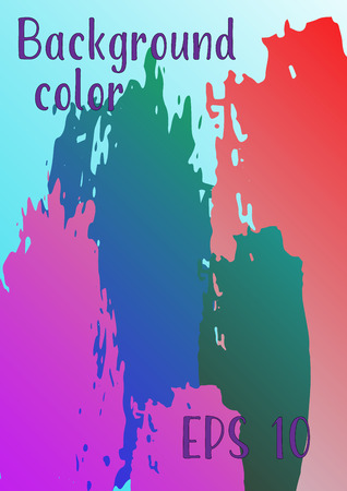 Vector watercolor background. Modern abstract background with multicolored brush strokes. Template of design. Suitable for the design of banners, posters, booklets, reports, magazines. EPS 10.