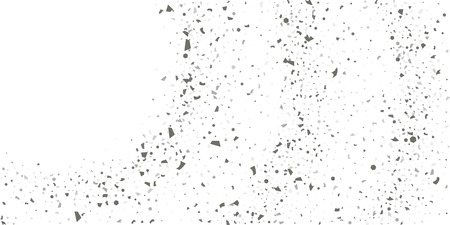 Silver glitter confetti on a white background. Illustration of a drop of shiny particles. Decorative element. Luxury background for your design, cards, invitations, gift, vip.  Illustration