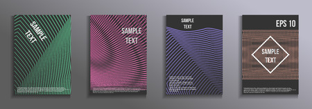 Artistic design of the cover. Creative color background. A set of modern rectangular objects from abstract lines. Design for the design of business brochures, banners, posters.
