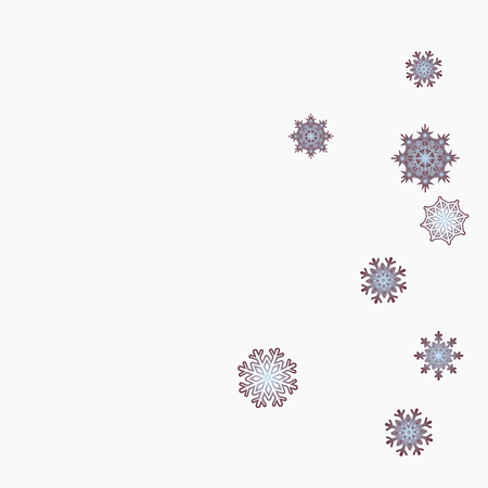 Christmas and New Year background vector with falling snowflakes. The effect of decorating snowflakes. Winter vacation. Well suited for a Christmas card, banner or poster. EPS 10 Иллюстрация