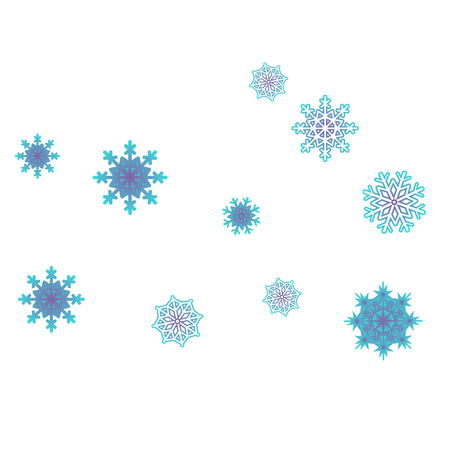 Christmas and New Year background vector with falling snowflakes. The effect of decorating snowflakes. Winter vacation. Well suited for a Christmas card, banner or poster. EPS 10 Ilustração