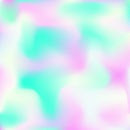 Holographic background. Bright smooth mesh blurred futuristic pattern in pink, blue, green colors. Fashionable ad vector. Intensive gradient of holographic spectrum for printed products, covers. Ilustrace