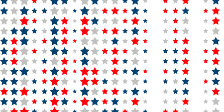 4th of July. Abstract background of red, blue, white stars in the colors of the United States, the patriotic stars of America. Vector illustration. 일러스트