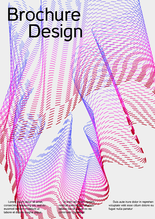 Cover design with abstract lines. Modern background. Rich design of VIP. Future futuristic template for banner design, poster, booklet, report, journal. Vector.