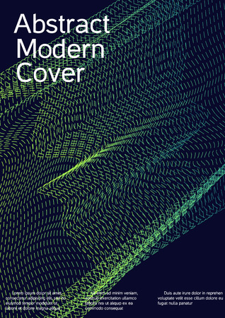 Modern design template. Creative fluid background from abstract lines to create a fashionable abstract cover, banner, poster, booklet. Vector illustration. EPS 10.