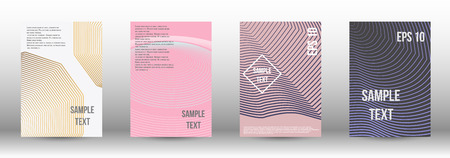 A modern cover design template. A set of modern abstract covers. Creative backgrounds from abstract gradient lines to create a trendy background for a banner, poster, booklet. Vector. 向量圖像