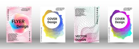 Moderne ontwerpsjabloon. Een reeks moderne abstracte omslagen. Creatieve geluidsachtergronden van abstracte lijnen, verloopgolf, halftoon om een modieuze abstracte omslag, spandoek, poster, boekje te maken. Vector Illustratie
